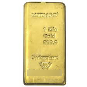 Metalor 1kg gold bar