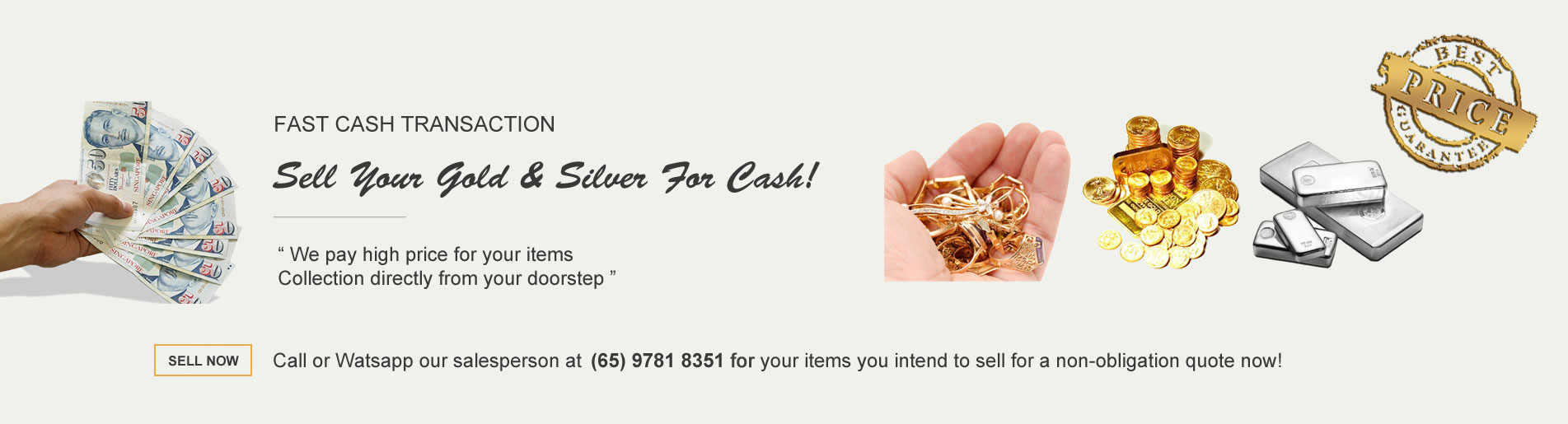 Sell Gold Silver in Singapore for Cash, Sell Scrap Gold, Sell Gold Jewelry