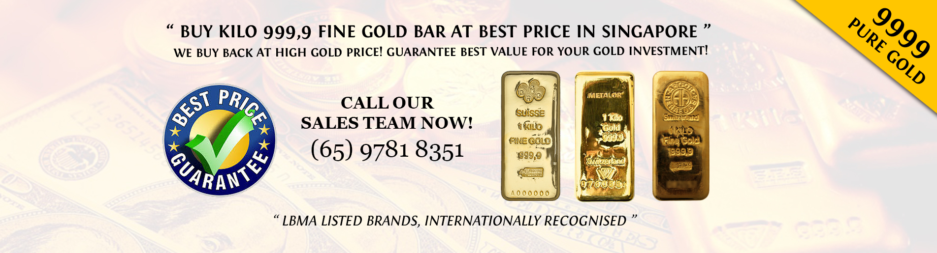 Buy Kilo Gold Bars At Best Price In Singapore